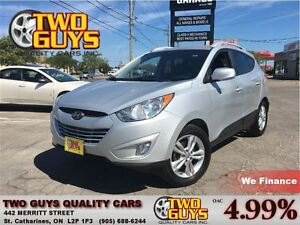 2012 Hyundai Tucson GLS LEATHER & CLOTH INTERIOR MAG WHEELS ROOF