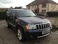 Jeep Grand Cherokee Overland 3.0 Diesel with extras