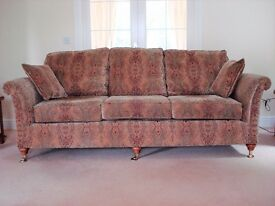 Parker Knoll Burghley Grand Sofa, Two Seater Sofa and Footstool in Baslow Gold
