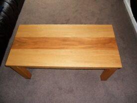 Oak coffee table - two tone effect