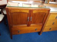 Vintage Mahogany Low-boy with Glass Preserve