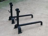 Fire dogs / basket or grate support - heavy duty