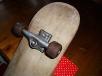 "31"" X 8"" ADULT PRO COMPLETE 1990'S SKATEBOARD IN VGC, HUDSON SMALL & GRIPPY 50MM WHEELS, FORFAR"