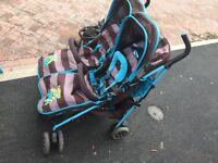 Double buggy side by side gd condition sell or swap for another double but behind each other