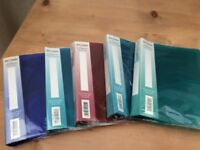 5 New Snopake A5 ring binders files in blue, turquoise and green