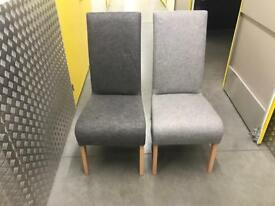 2x Grey chairs, Free delivery