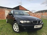 BMW 3 Series 2.0 318i SE 4dr 2003 (53 reg),Saloon 121,500 miles Automatic Full Leather 1995cc Petrol