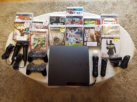 Sony PS3 with accessories and games