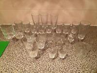 26 small glasses