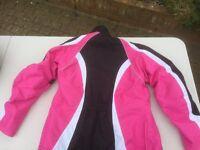 Ladies motorcycle jacket, size 14/16
