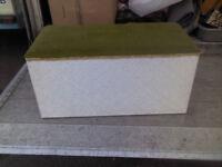 LARGE CHIC FABRIC BLANKET BOX STORAGE CHEST OTTOMAN