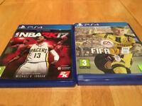 PS4 Fifa and NBA 17
