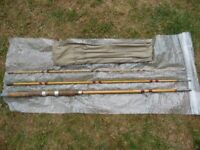 Vintage 10' Split Cane Freshwater Float Fishing Rod in Very Good Condition