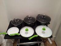 Set of cooking ceramic cooking ware