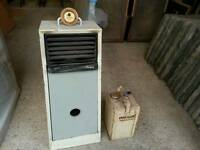 Aladdin antique paraffin heater plus Valor antique oil can