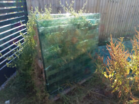 Toughened glass panels 22mm thick 1200 x1200mm for glass balcony, six pieces