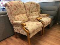 Pair Of Global Fireside Armchairs FREE MIDS DELIVERY DELIVERY AND AVAILABLE DURING LOCKDOWN