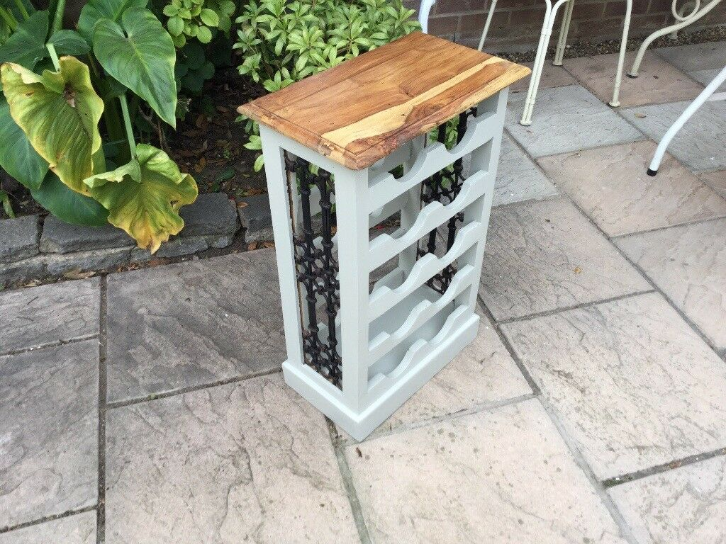 Painted Solid Pine Wine Rack