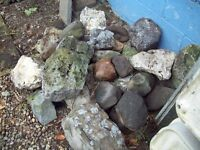 A selection of rockery stones