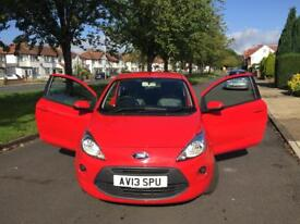Ford KA 1.2 Edge 3dr (start/stop) 2013(13), low mileage, cheap insurance, only £30 road tax