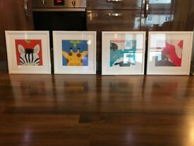 Nursery Pictures Set of 4 Animal Prints Boys or Girls Nursery. £40 set of 4