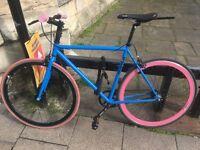 Fixed/single speed medium Mango bike, Blue