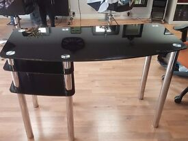 Glass desk for sale. Pick up only