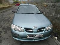 NISSAN ALMERA 1.5 E 5dr MOT DECEMBER 2018 TRADE IN TO CLEAR. A GOOD DRIVING CAR (grey) 2002