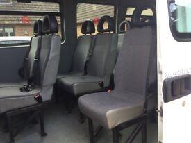 Minibus seat in single units