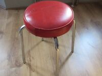 4 x Red/Chrome Stools (50s/vintage look)