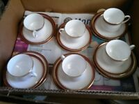 Vintage 6 x trios PARAGON Gilded China cups saucers & Tea plates