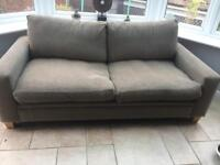 2 seater sofa - grey/beige