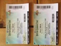 2 x Paul Simon tickets for Hyde Park July 15th 2018