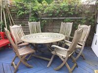 ALEXANDER ROSE TABLE & 6 CHAIRS