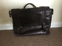 HiDesign Brown Leather laptop bag
