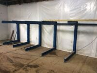 Heavy Duty Cantilever Racking For Sale, Only 1 Year Old