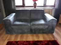 Grey leather sofa