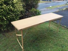 Wooden Folding Table for BBQ or Fairs