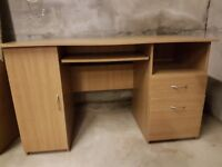 Oak colour desk