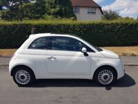 2010 Fiat 500 1.2 Lounge (s/s) 3dr,full service history,one owner,