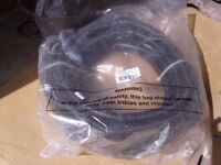 Four 10 mtr rolls of 20mm flexible conduit, black. New.