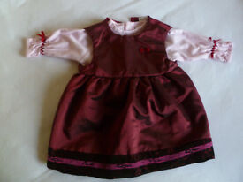 Baby girl party dress + long sleeve top - size 3 months