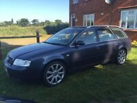 Audi a6 estate tdi sport 2.5 v6 diesel with automatic gearbox in metallic blue 2003 53plate
