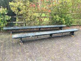 GWR Great Western Railway works pew benches