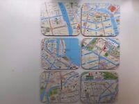 Amsterdam Map Coasters-Set of 6