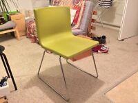 Ikea Bernhard dining/office chair. Chrome & coloured leather