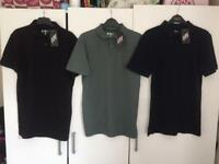 New with tags, men's extra small polo next tshirt bundle