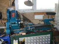 Myford Super 7 Lathe Fully Working order with reversing switch