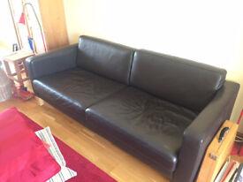 IKEA Karlstad Leather Sofa Black