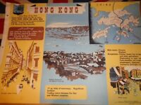 Vintage 1950's Educational Wall Poster Empire Information Project - Hong Kong